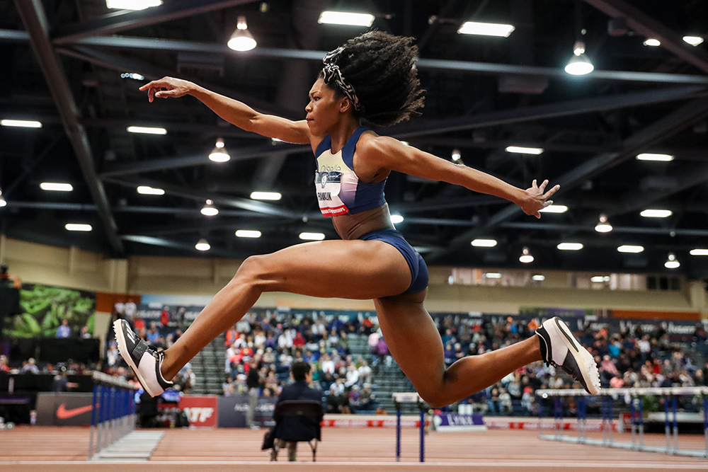 tori franklin claims american record in the triple jump