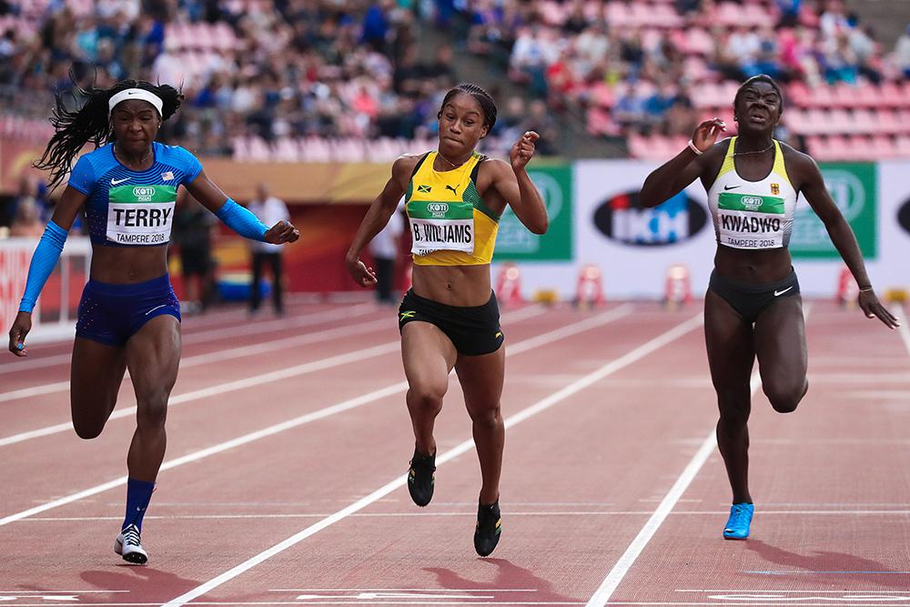 1514f9a456d6b World Junior Championships Women — Williams Is Jamaica s Latest Sprint  Prodigy