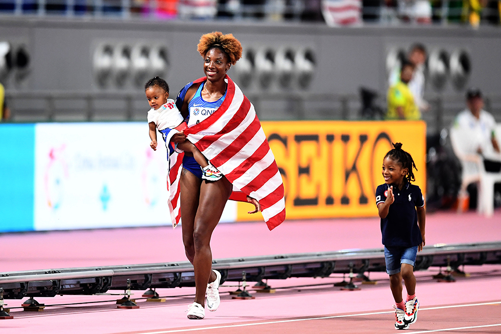 Nia Ali's Turn For A Victory Lap - Track & Field News