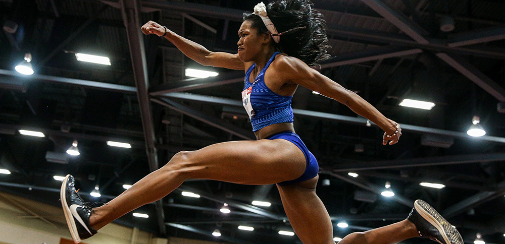 USATF Women's Indoor Championships — A Pair Of Triple Jump ARs - Track & Field News