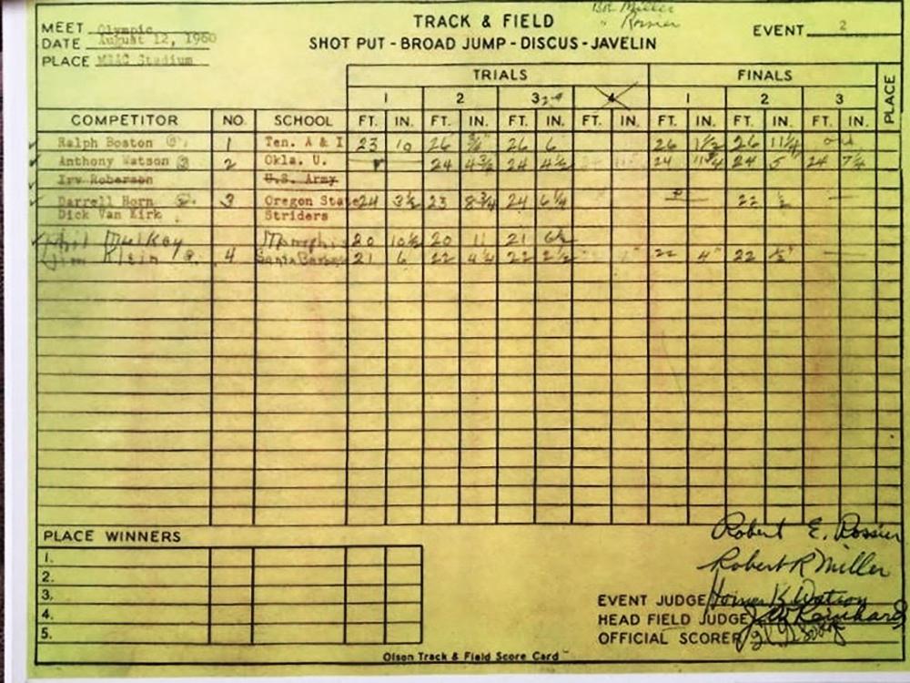 BostonLJscorecard adj Walnut 1960 - Hoy fue hace 60 años